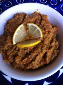 Eggplant caviar hors d