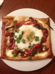 Another favorite recipe: baked egg galettes with red pepper.