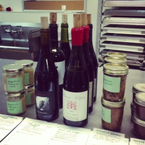I was intrigued by the homemade wine vinegar.