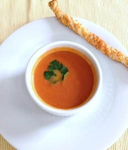 Middle Eastern-flavored tomato soup brightens up a winter day.