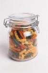 This kind of jar is generally not recommended for canning but is attractive for storage.