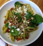 Noodles and Company's Garden Pesto Saute featuring fresh asparagus.