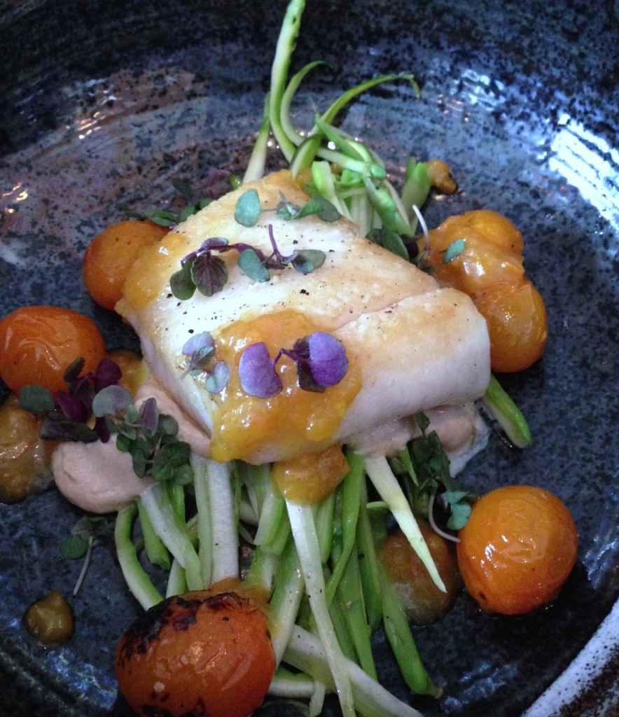 Alaskan halibut presented beautifully at GT Fish and Oyster