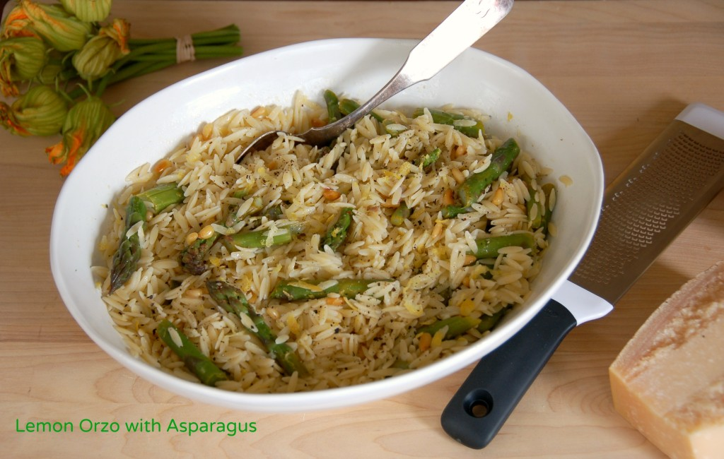 Lemon Orzo Salad with Asparagus - West of the Loop