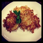 Latkes for Hanukkah Dinner