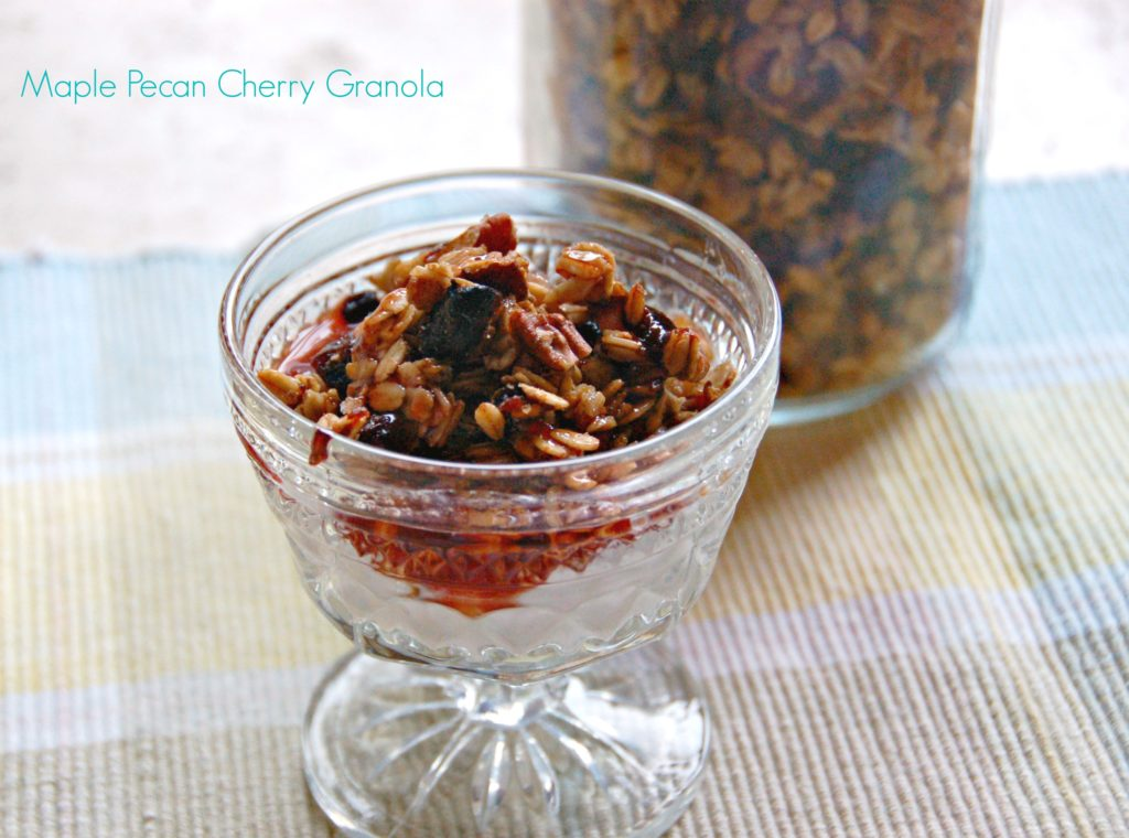 Maple Pecan Cherry Granola - West of the Loop
