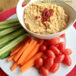 Roasted Garlic Hummus for the Chicago Food Swap