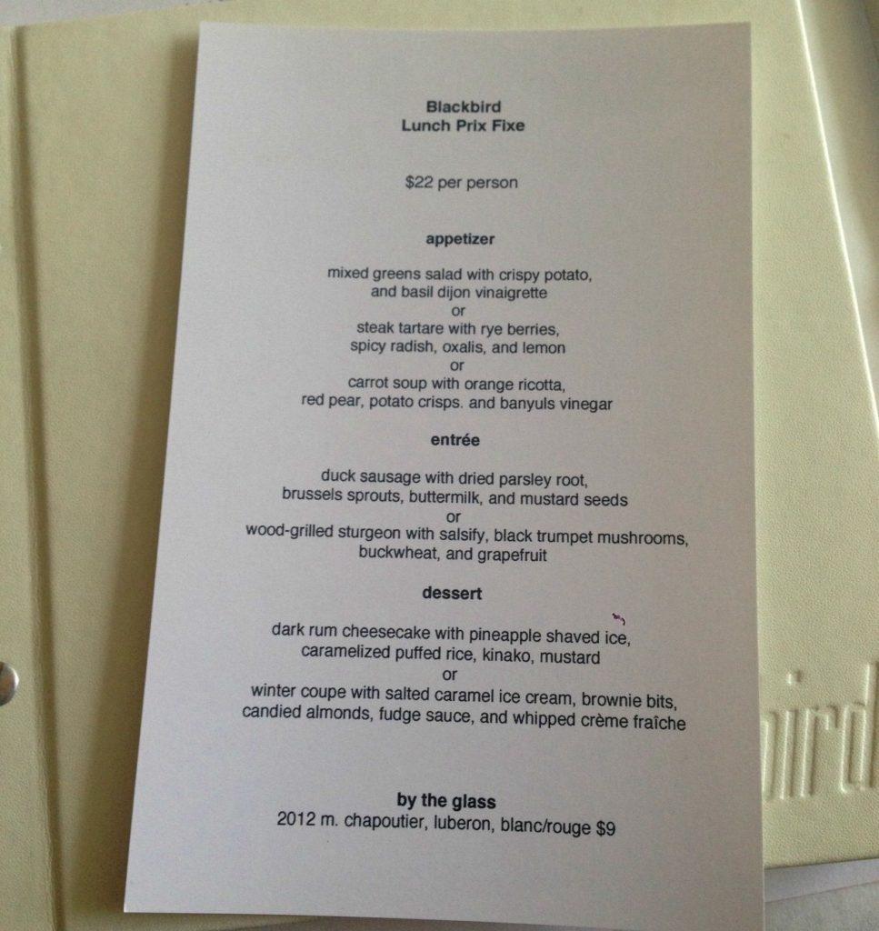 Chicago restaurant week naha and blackbird west of the loop for 010 cuisine weekmenu