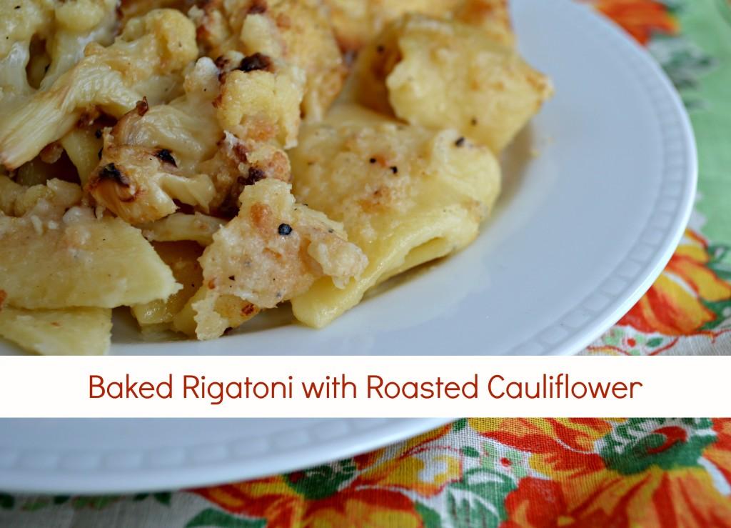 cauliflower baked pasta