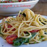 Meatless Spaghetti a la Carbonara