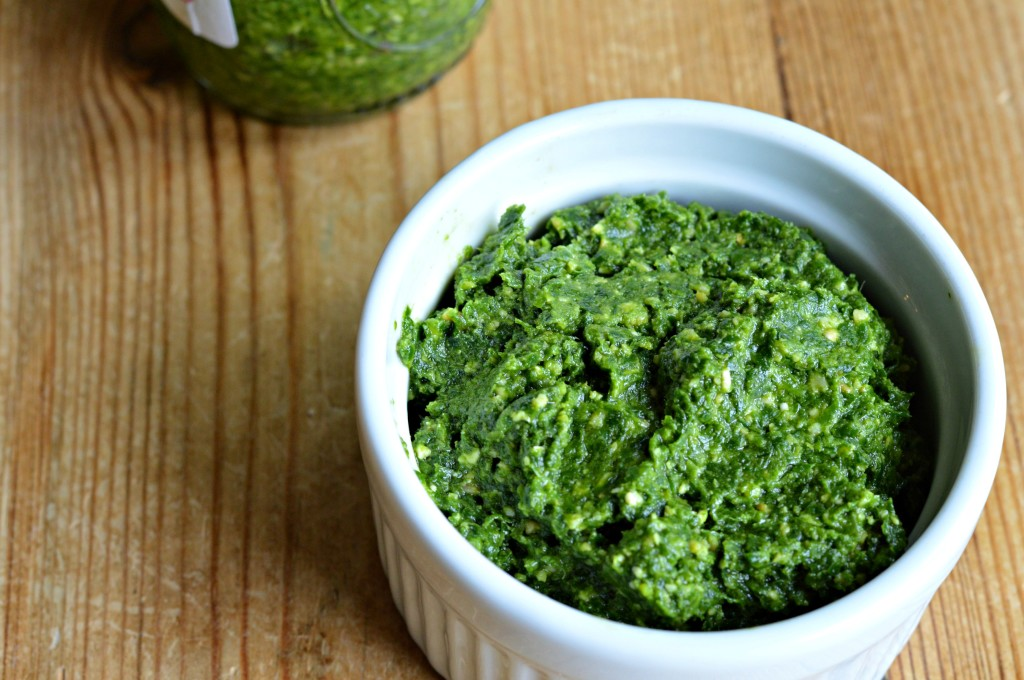 pesto made with ramps