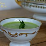 Elegant First Course: Cold Pea Soup with Mint