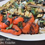 Grilled Vegetables with Balsamic-Lime Reduction