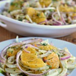 Fennel, Orange and Red Onion Salad with Bulgar