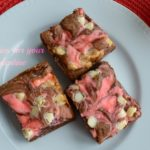 Valentine's Day Cheesecake Brownies