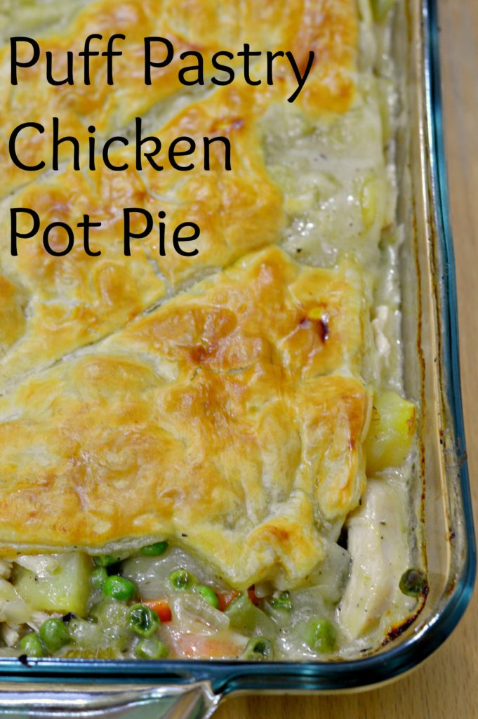 Chicken Pot Pie with Puff Pastry Crust - West of the Loop