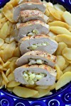 apple and bleu cheese stuffed chicken breast