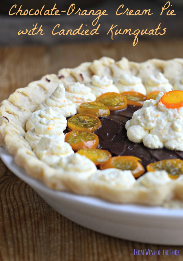 Chocolate-Orange Cream Pie - West of the Loop