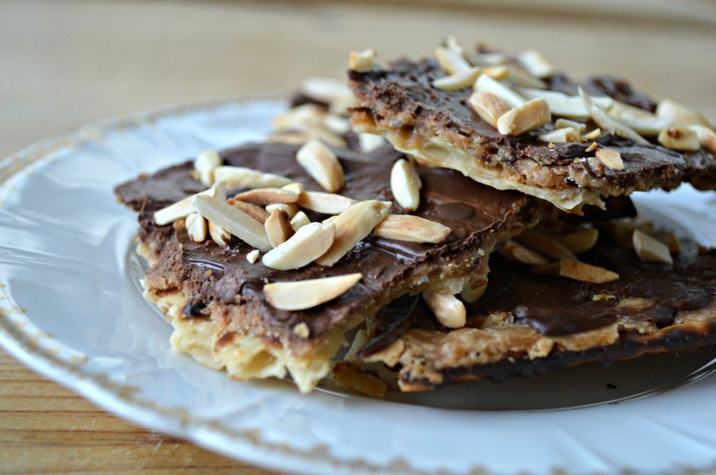 Chocolate-Covered Matzo Toffee - West of the Loop
