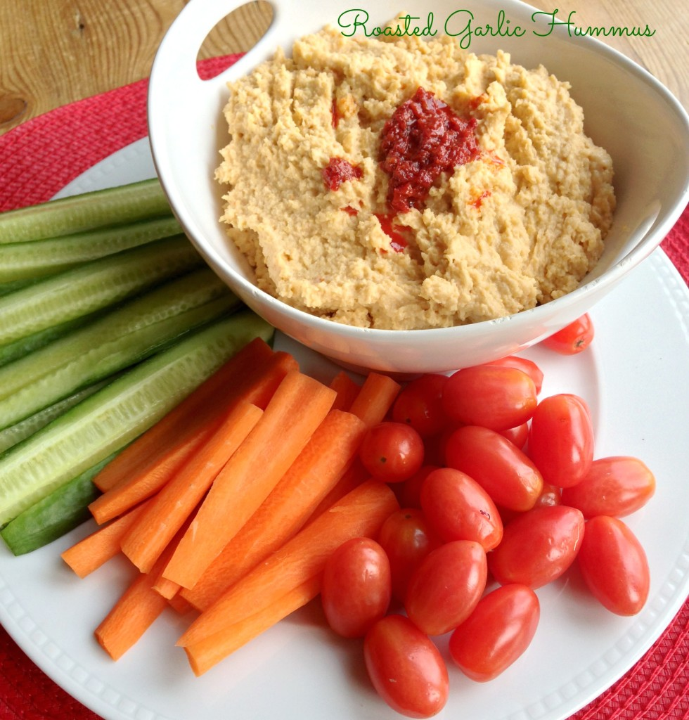 Roasted Garlic Hummus for National Hummus Day - West of the Loop