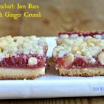Rhubarb Jam Bars