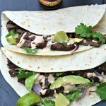 Skirt Steak Soft Tacos with Chipotle Crema