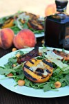 Arugula with Grilled Peaches, Hazelnuts and Parmesan
