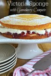 Victoria Sponge with Gooseberry Compote