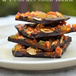 Chocolate Bark with Dried Apricots, Golden Raisins and Pumpkin Seeds
