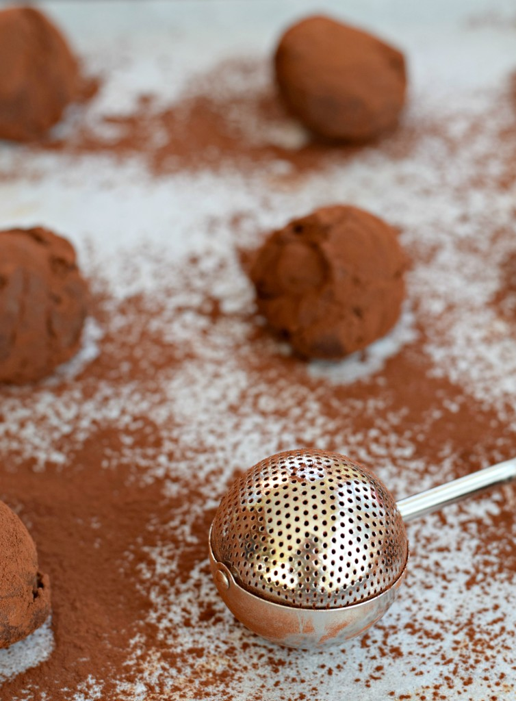 chocolate yogurt truffles