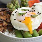 Soy Sesame Asparagus Rice Bowl