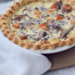 Holiday Breakfast: Radicchio and Squash Quiche