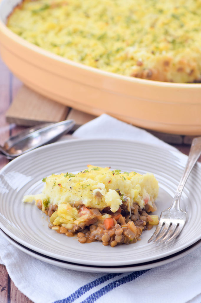 Lentil Shepherd's Pie with Mashed Potato-Parsnip Crust - West of the ...