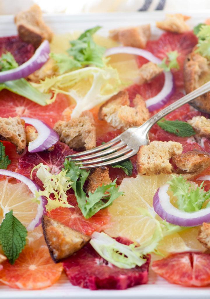 citrus salad bread
