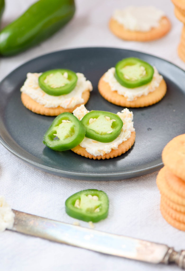 ritz with cream cheese and jalapeno