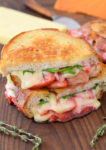 Grilled Cheese with Pickled Strawberries