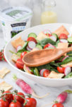 Fattoush Salad with Yogurt-Tahini Dressing