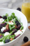 Beets, Burrata & Blackberry Salad for Rosh Hashanah