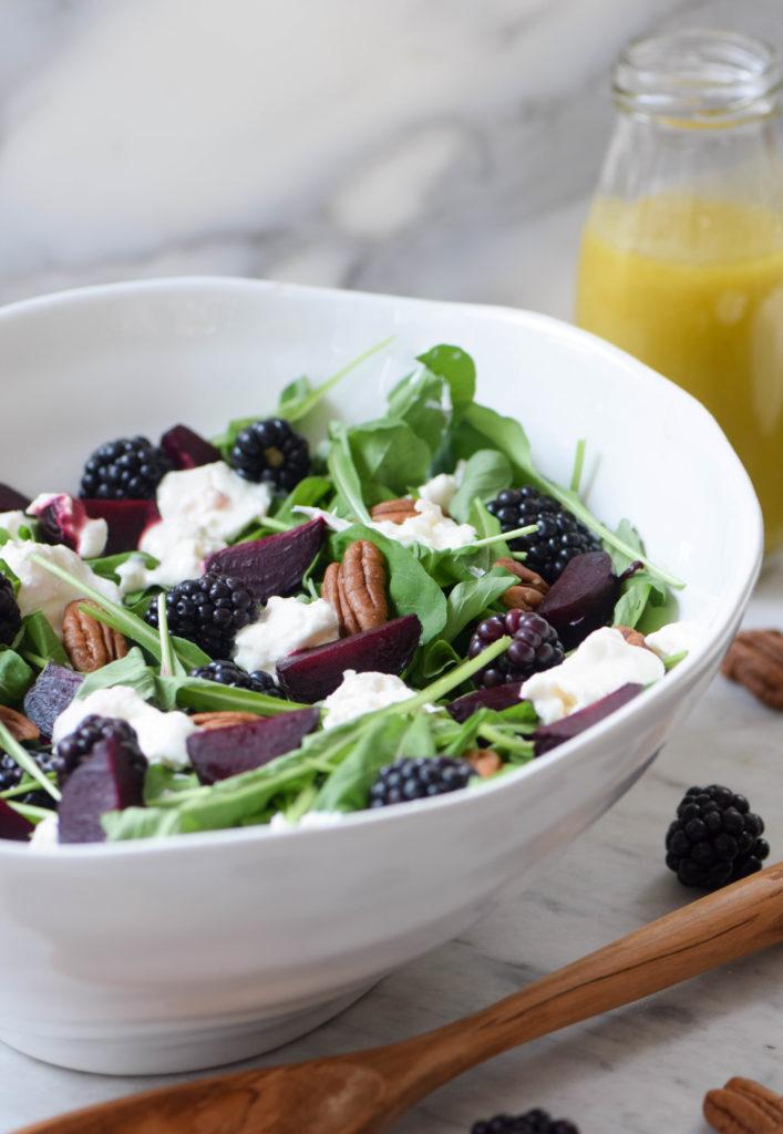 roasted beet berry salad