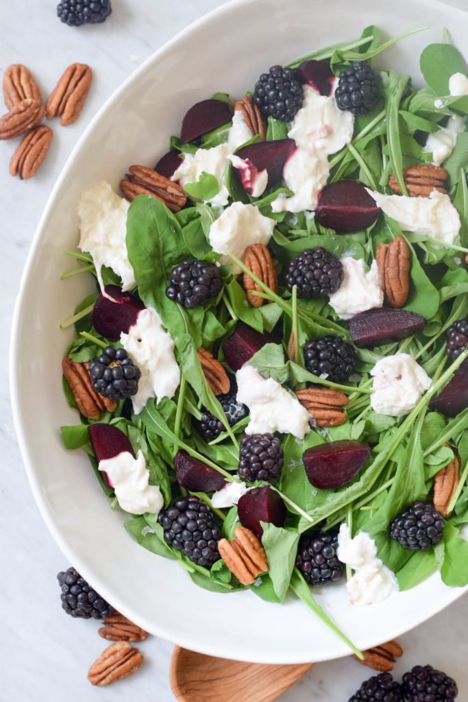 beet burrata salad