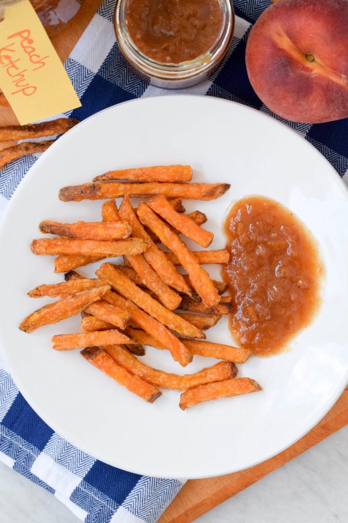 peach ketchup fries