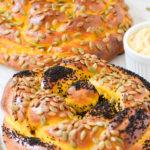 Pumpkin Challah with Cinnamon Honey Butter
