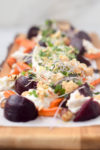 Roasted Beets and Carrots with Burrata