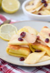 Apple Cranberry Cheese Blintzes
