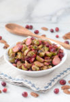 Brussel Sprouts with Pickled Cranberries and Pecans