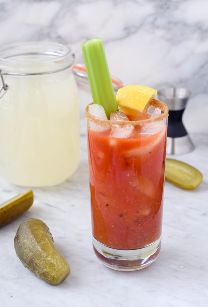 homemade bloody mary brunch