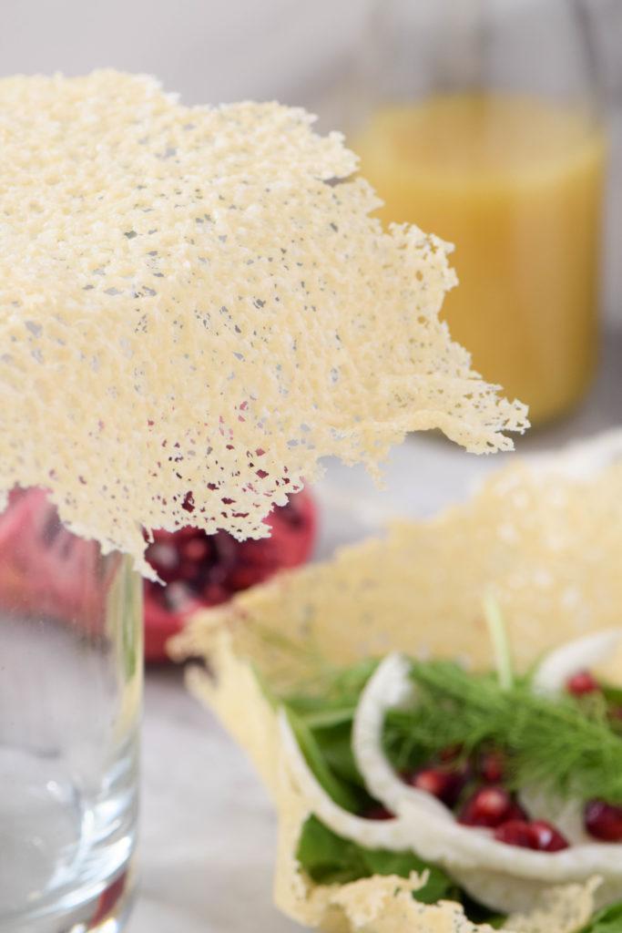 edible parmesan bowls salad