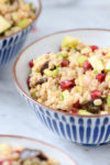 Pearl Barley with Figs, Apple & Pomegranate for Tu B' Shevat