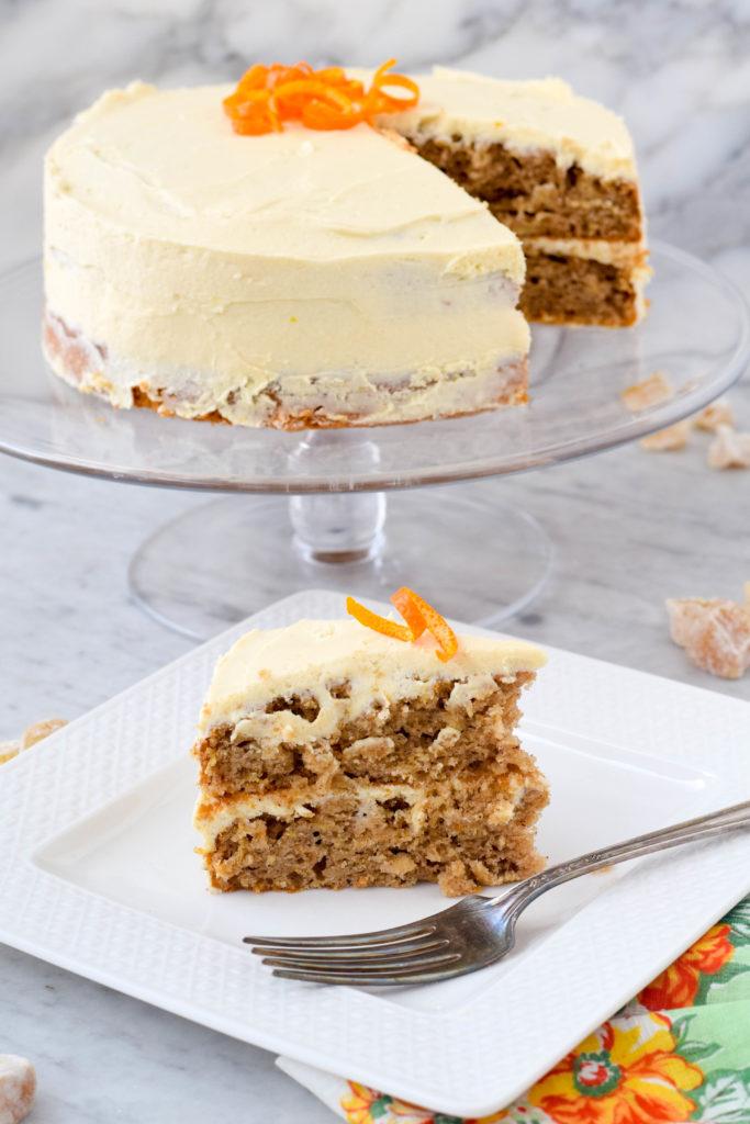 parsnip cake maple ginger frosting