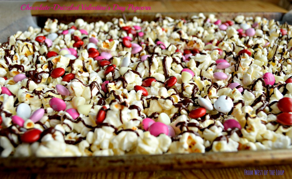 Kid Friendly Valentine S Day Treat Chocolate Drizzled Popcorn